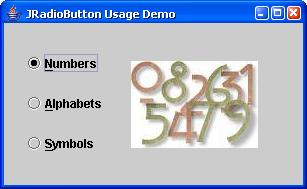 how to add radio button in java